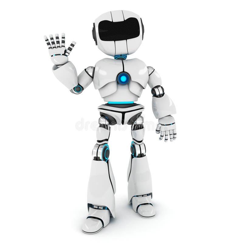 Robot hola ilustración del vector