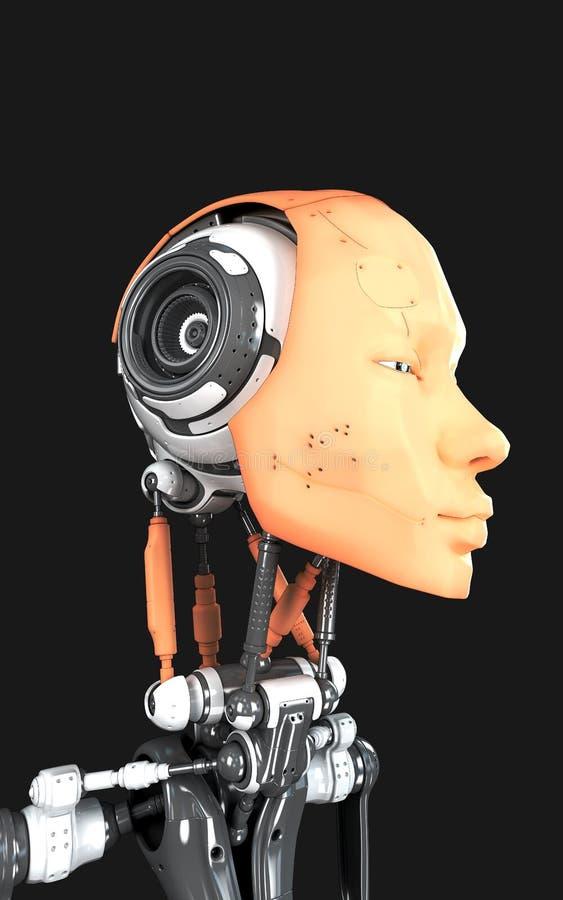 Robot human-like futuristico royalty illustrazione gratis