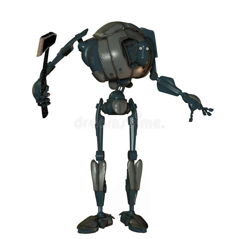 Robot humano viejo ilustración del vector