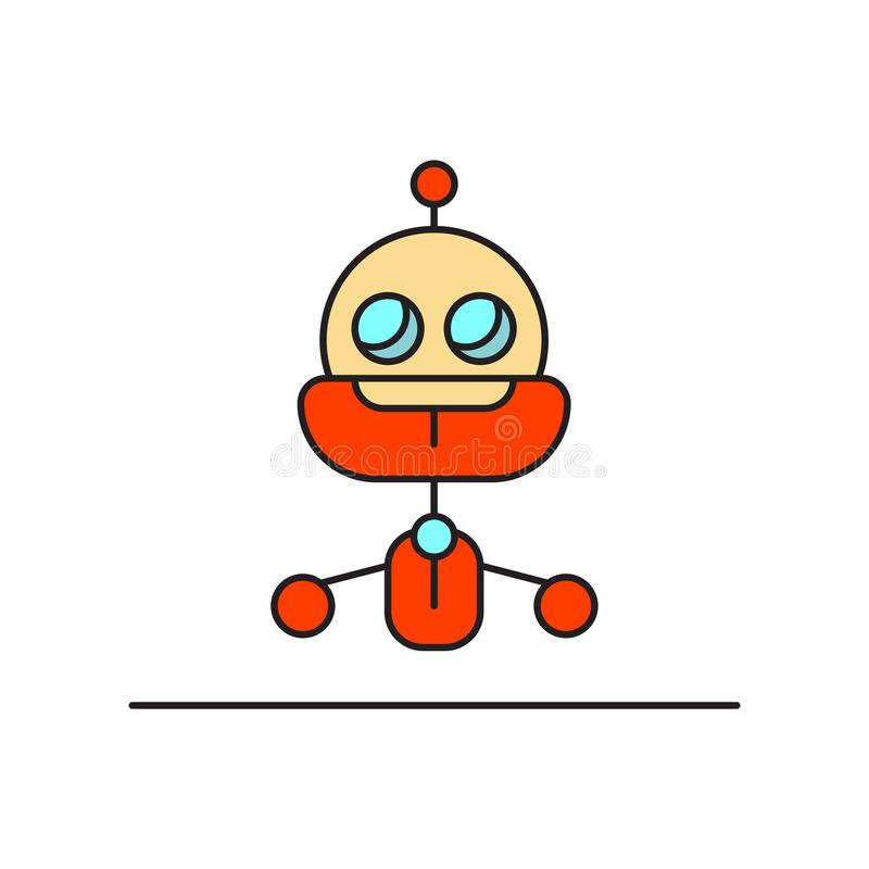 Robot icon vector isolated on white background, Robot sign , technology symbols vector illustration
