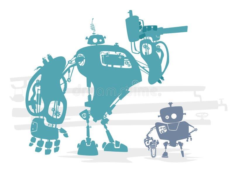 Robot identyfikacja royalty ilustracja