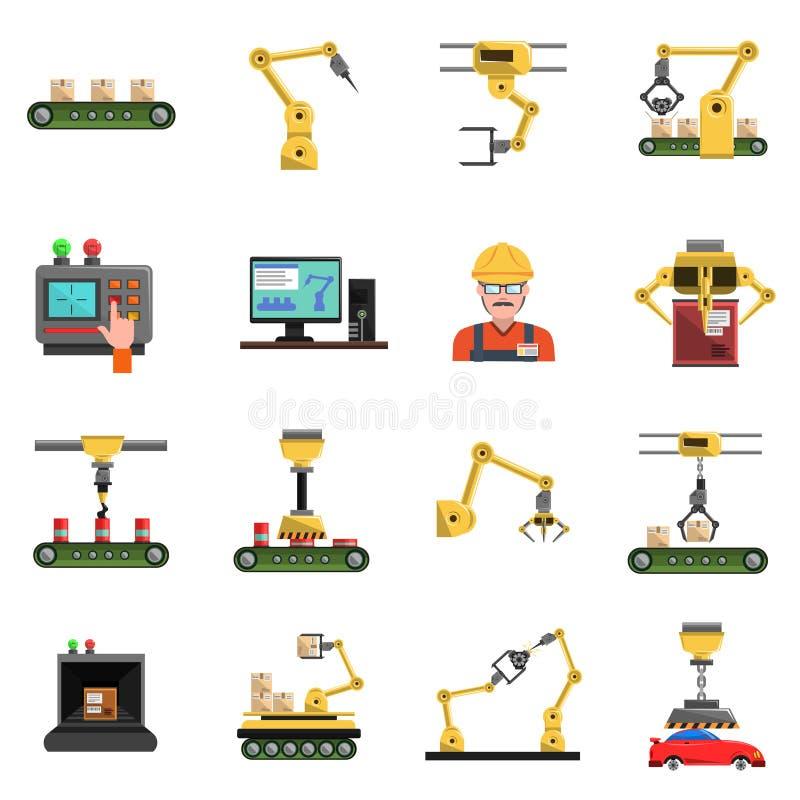 Robot ikony ustawiać royalty ilustracja