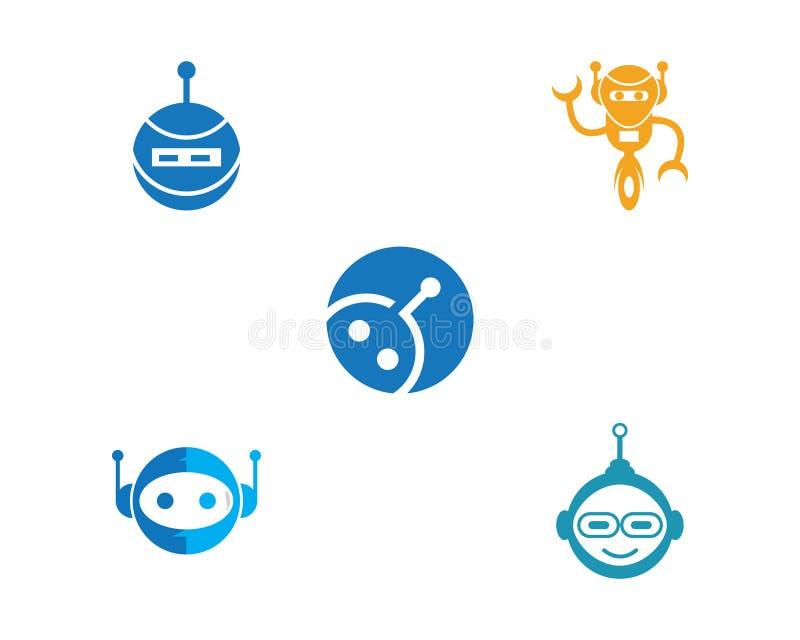 Robot ikony wektor ilustracji