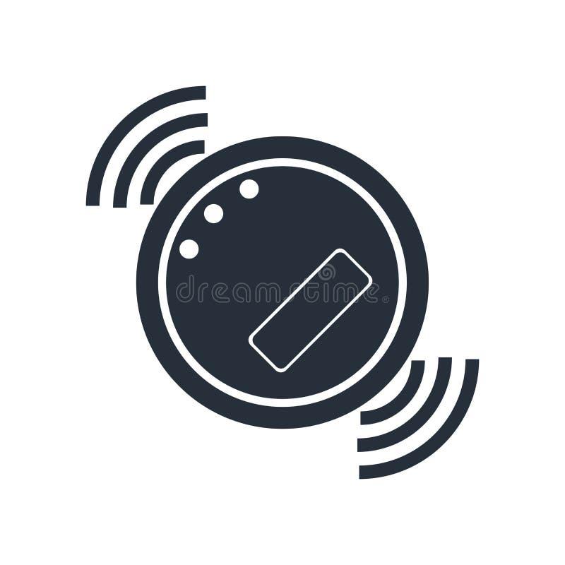 Robot ikony wektoru próżniowy znak i symbol odizolowywający na białym tle, robota logo próżniowy pojęcie ilustracja wektor