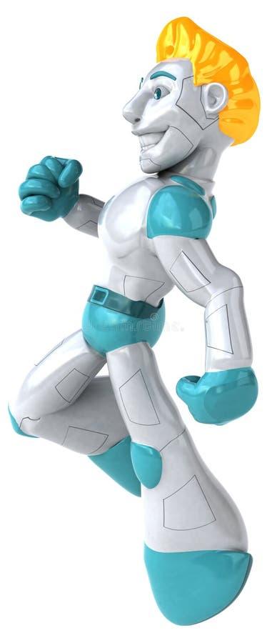 Robot - illustration 3D vektor illustrationer