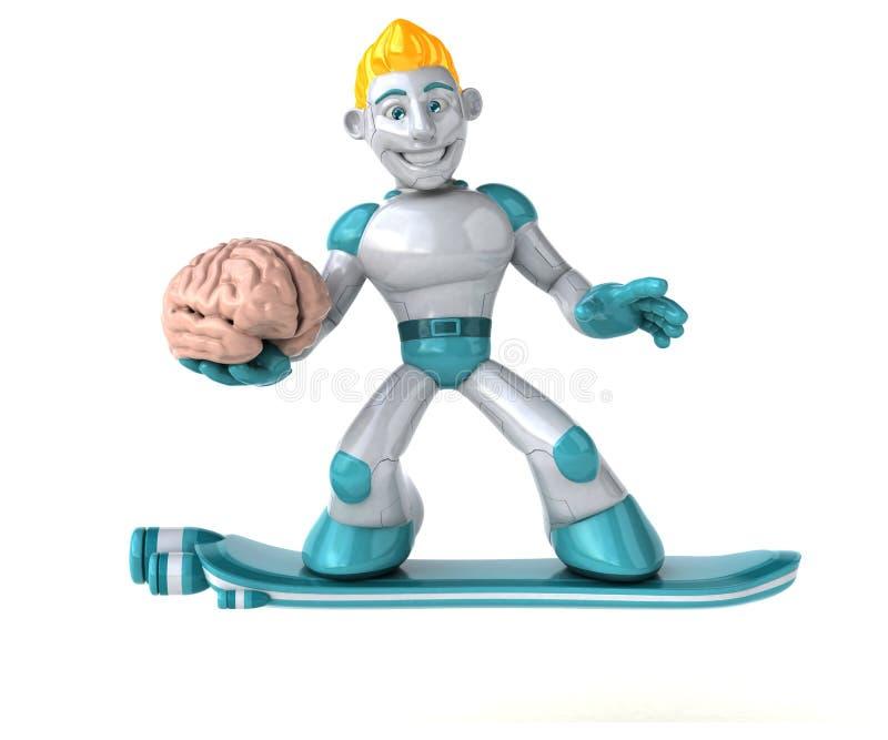 Robot - illustration 3D royaltyfri illustrationer