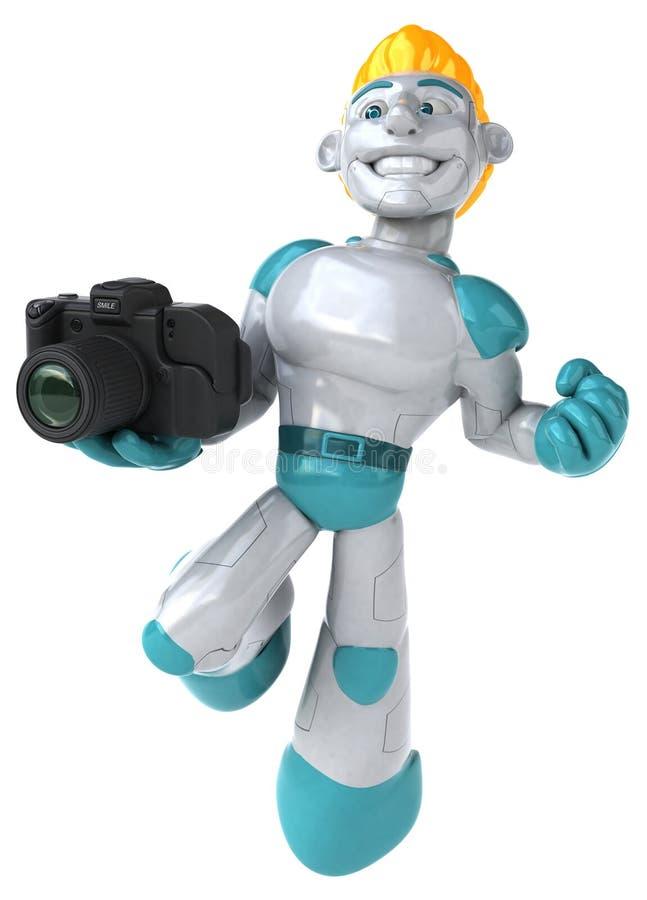 Robot - illustration 3D illustration stock