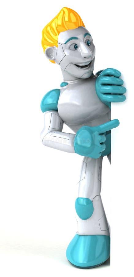 Robot - illustrazione 3D illustrazione vettoriale