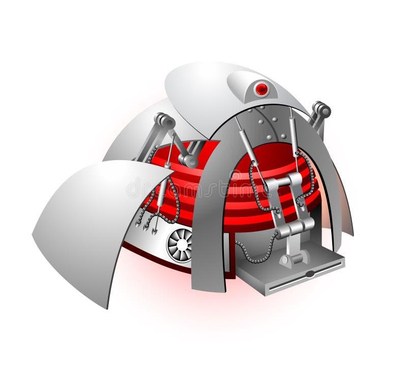 robot ilustracyjny wektora ilustracji