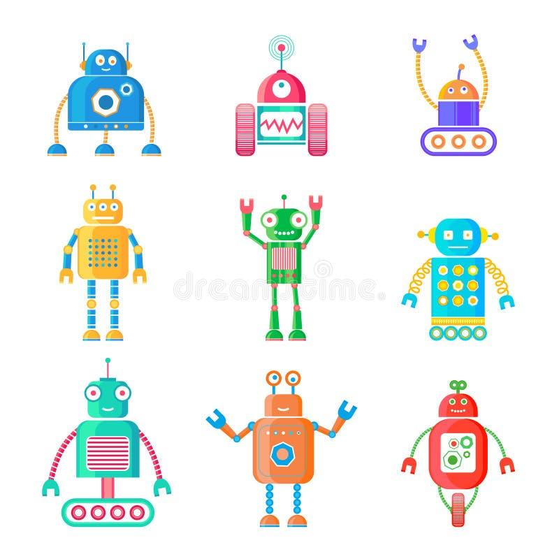 Robot impostati illustrazione di stock