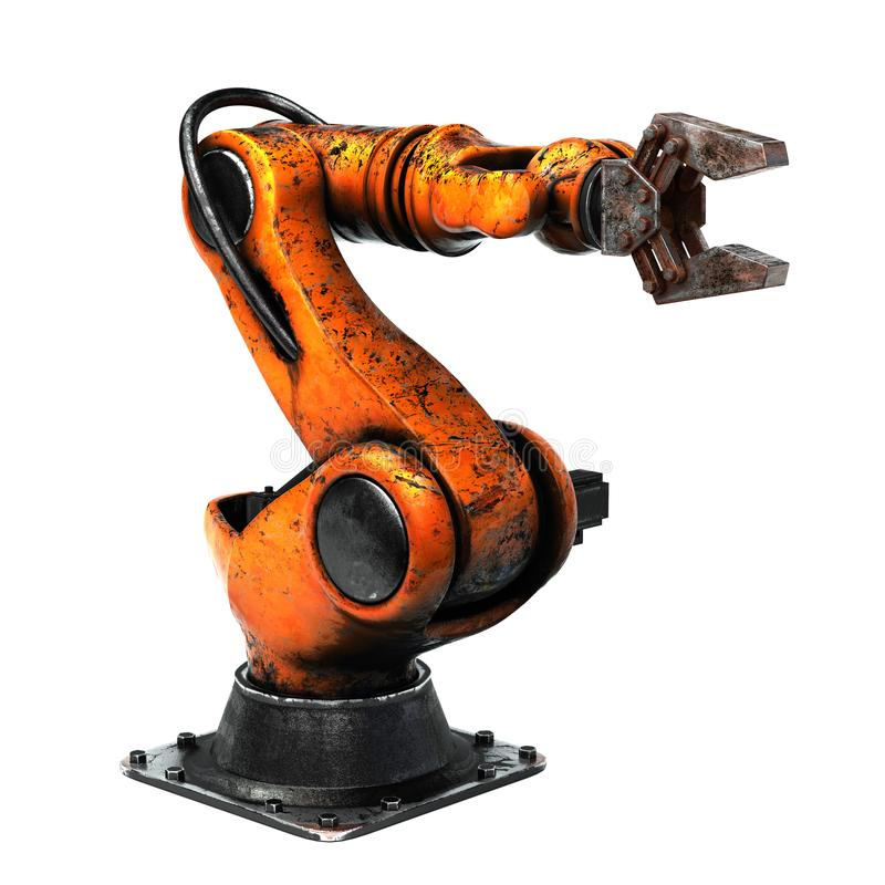 Robot industrial envejecido foto de archivo