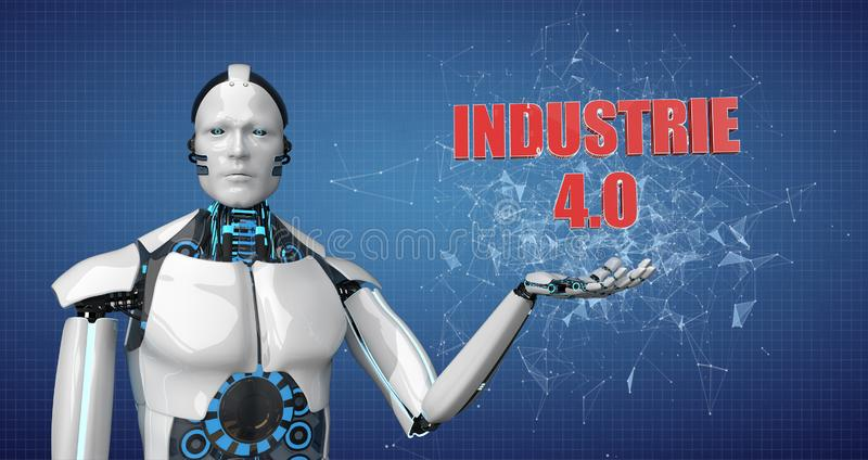 Robot Industrie 4 stock illustrationer