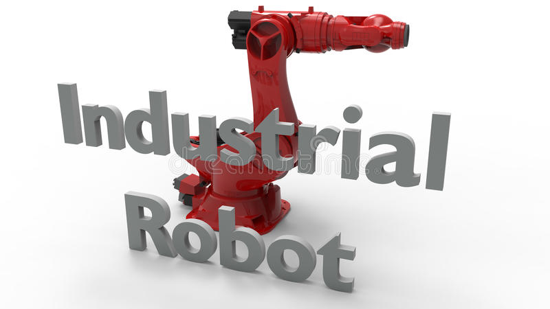 Robot industriel illustration libre de droits
