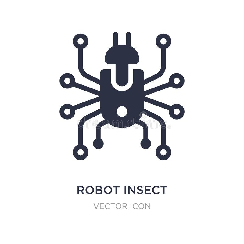 robot insect icon on white background. Simple element illustration from Technology concept vector illustration