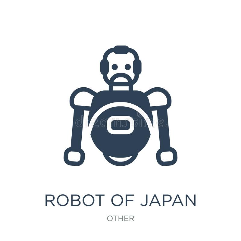 Robot of japan icon in trendy design style. robot of japan icon isolated on white background. robot of japan vector icon simple. And modern flat symbol for web stock illustration