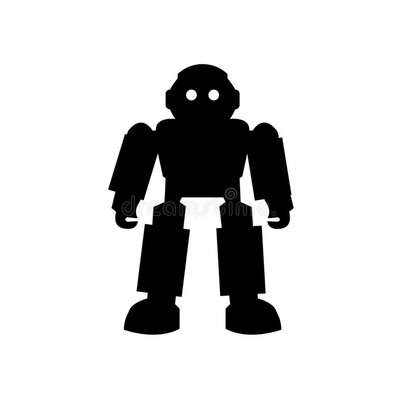 Robot of Japan icon vector sign and symbol isolated on white background, Robot of Japan logo concept royalty free illustration