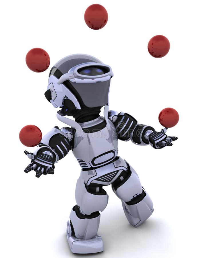 Download Robot juggling stock illustration. Image of isolated - 14695024