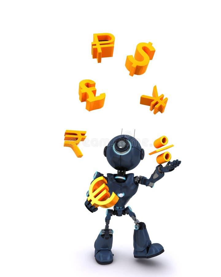 Download Robot juggling balls stock illustration. Image of render - 41984481