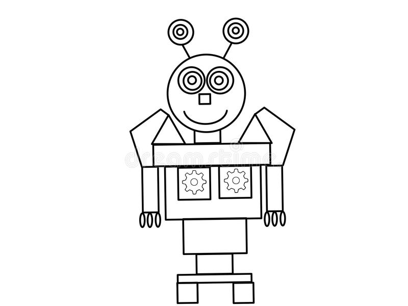robot kids high quality coloring page very illustration which you can see some mechanics theme you can see illustration