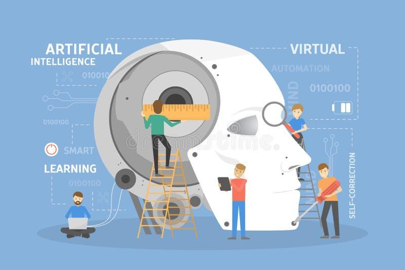 Robot kierownicza budowa royalty ilustracja