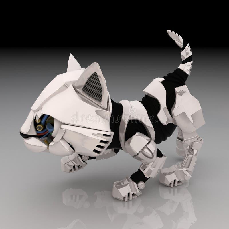 Download Robot Kitten, Crouching stock illustration. Illustration of kitten - 6759043