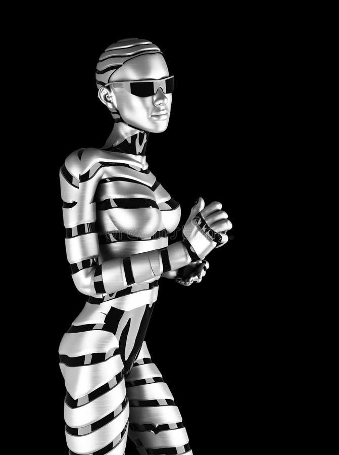 Robot kobieta ilustracja wektor