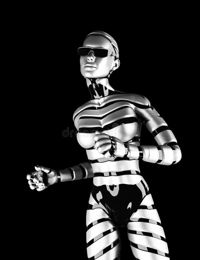 Robot kobieta ilustracji