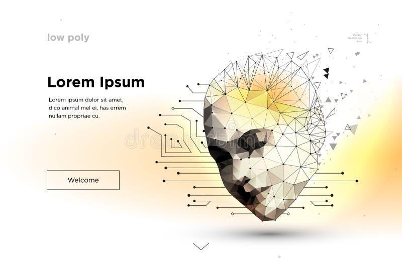 robot konstgjord intelligens royaltyfri illustrationer