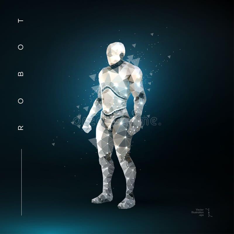 robot konstgjord intelligens stock illustrationer