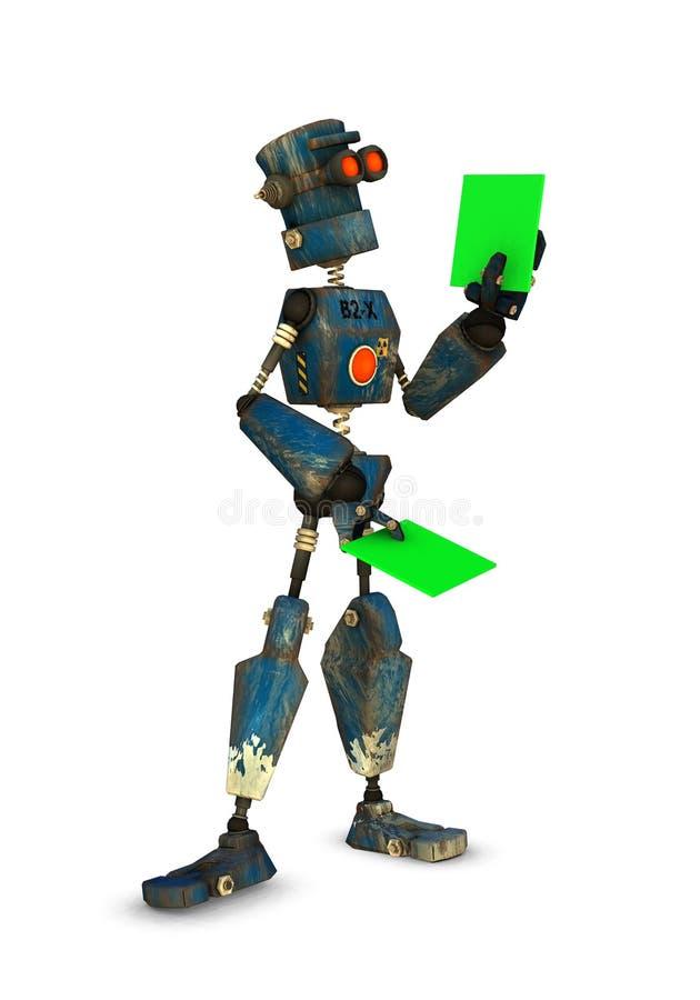 robot kontroli royalty ilustracja
