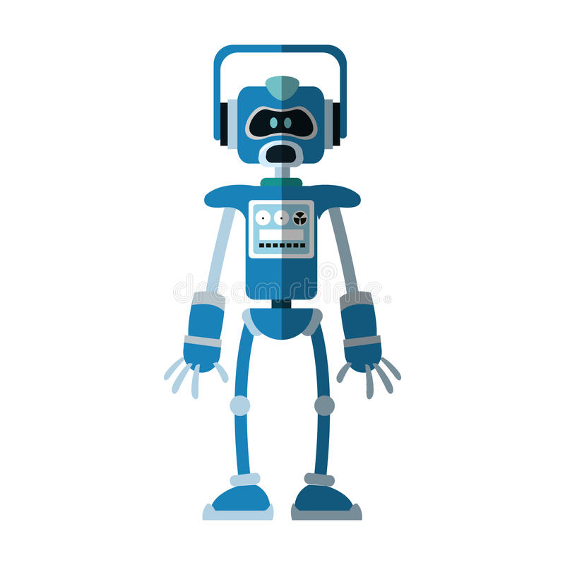 Robot kreskówki ikona royalty ilustracja