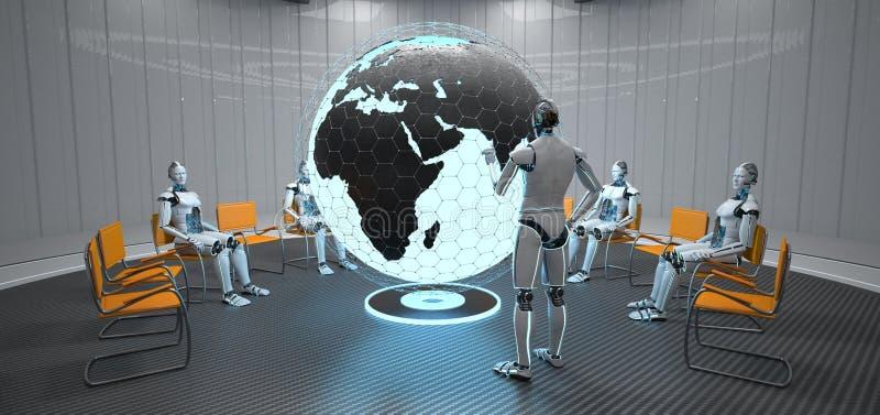 Robot kula ziemska India royalty ilustracja