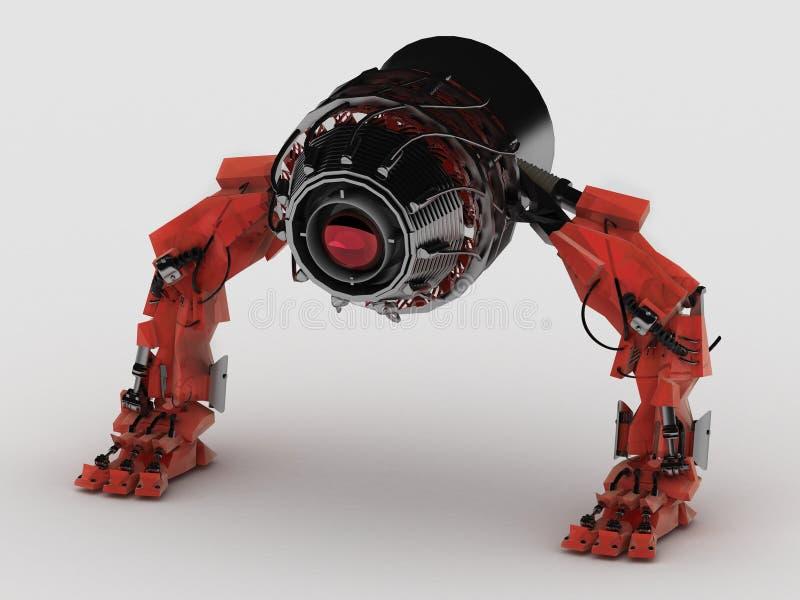 Robot laser vector illustration