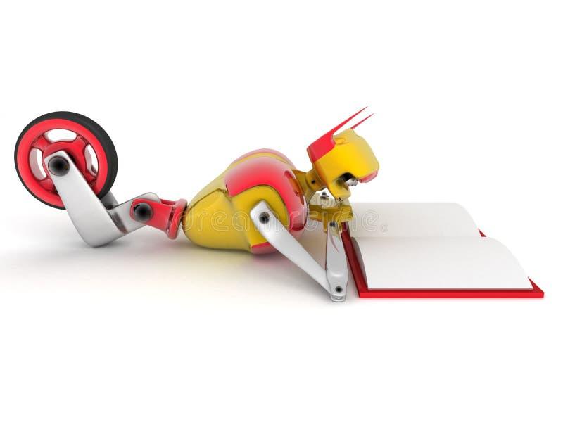 Robot lisant un livre illustration libre de droits