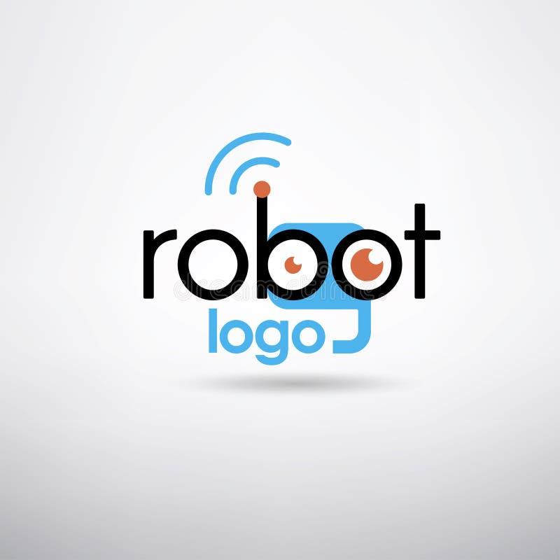 Robot logo template royalty free illustration