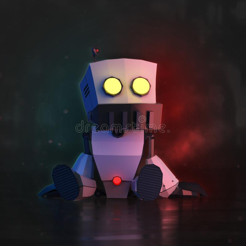 Robot LowPoly royalty free illustration