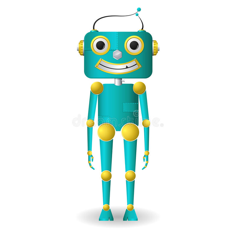 Robot mâle illustration stock