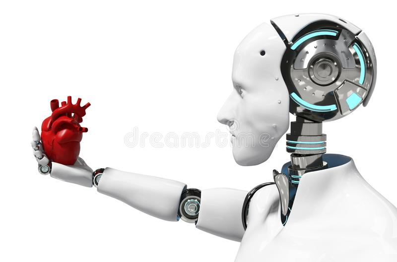 Robot médico del concepto del robot para la representación blanca médica del fondo 3D del uso - ejemplo stock de ilustración
