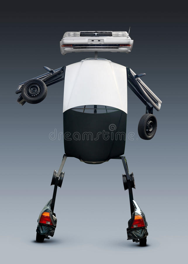 Download Robot Made from Auto Parts stock illustration. Image of humour - 13352471