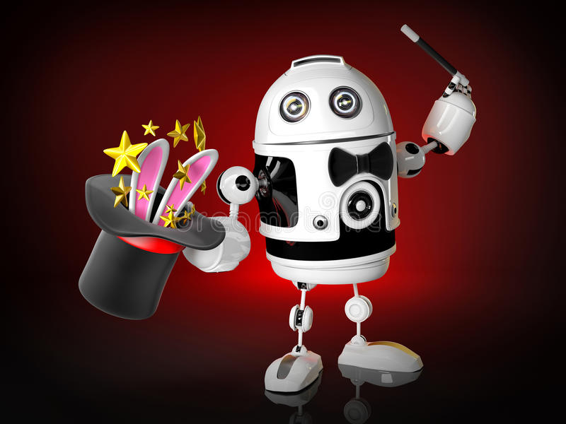 Robot magician royalty free illustration