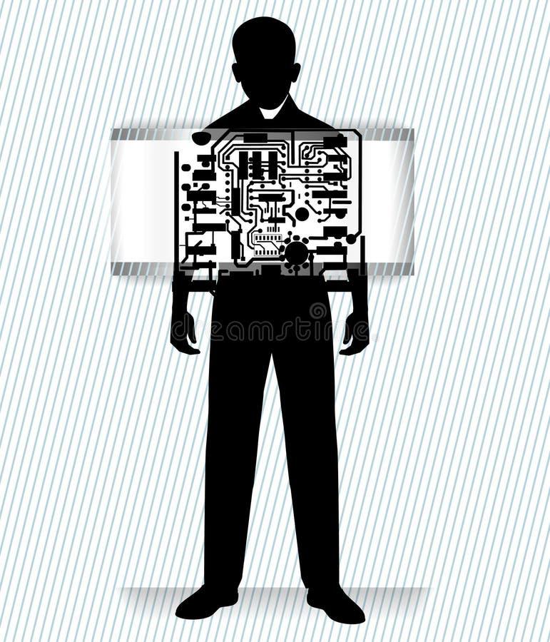Robot man vector illustration