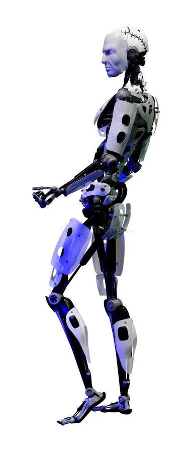 robot masculin du rendu 3D sur le blanc illustration stock