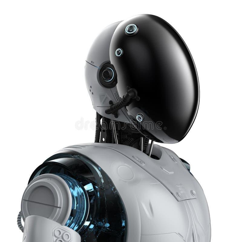 Robot med framsidamaskeringen royaltyfri illustrationer