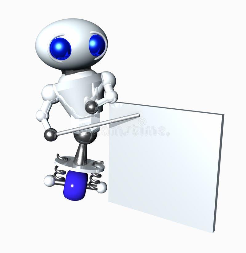Robot met een Lege Grafiek royalty-vrije illustratie