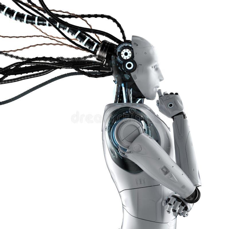 Robot met geïsoleerde draden royalty-vrije illustratie