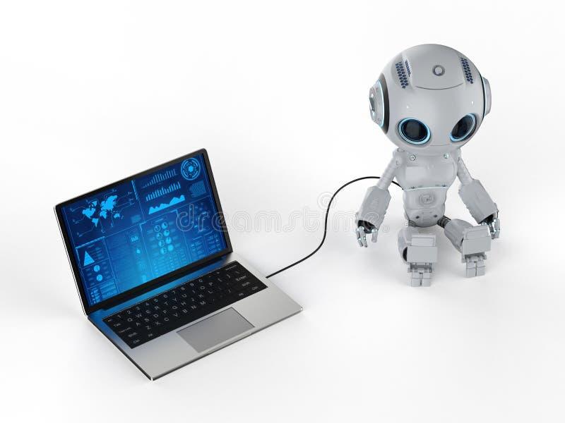 Robot met notitieboekje vector illustratie
