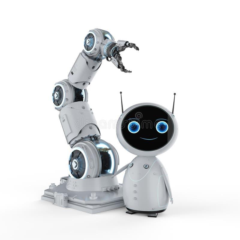 Robot met robotachtig wapen stock illustratie