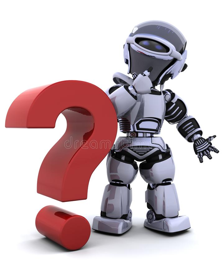 Robot met symbool royalty-vrije illustratie