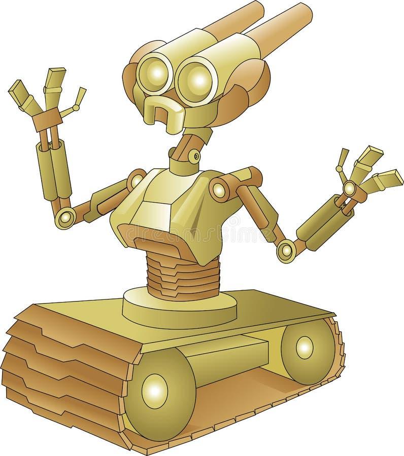 Robot met tankwielen vector illustratie