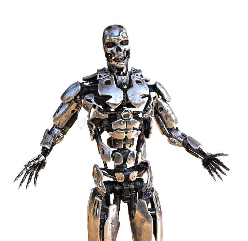 Robot met Uitgespreide Wapens royalty-vrije illustratie